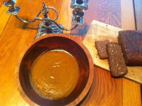 With Sprouted-Lentil and Seed Bread (gluten-free)